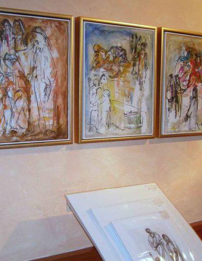 5 Szenen der Passion, 2015, Kreide, Acryl