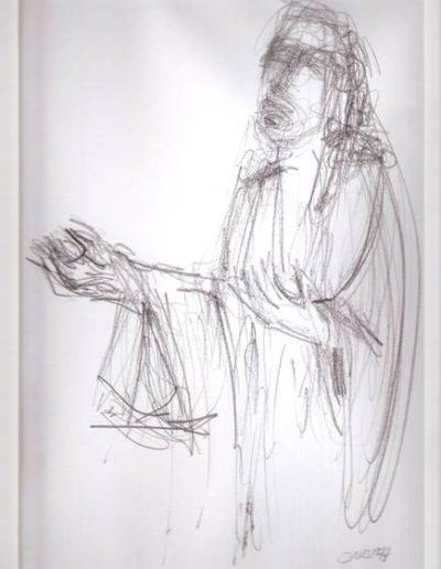Jesus, 2015, Bleistift auf Papier, ca. 30 x 20 cm